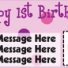 1st Birthday Custom Personalized Party Banners
