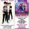Jonas Brothers Custom Personalized Birthday Party Invitations