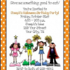 Personalized Halloween Party Invitations