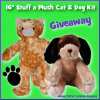 Stuff a Plush Cat and Dog Kit Giveaway- CLOSED