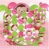 Pink Mod Monkey Party Supplies are Here