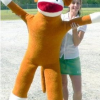 Giant 6 Foot Tall Sock Monkey makes a Great Gift