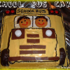 School Bus Cake and Traffic Light Brownies