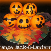 Jack-O-Lanterns made with Oranges make a Healthy Halloween Treat