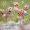 How to Make Snowman Cupcake Skewers