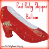 Wizard of Oz Red Ruby Slipper Balloon