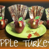 Apple Turkey Craft doubles as Place Cards and Party Favors