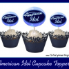 FREE Printable American Idol Cupcake Toppers