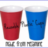 "Reusable ""Plastic"" Cups and ""Paper"" Plates made from Melamine"