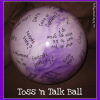 Homemade Toss 'n Talk Ball – Great Sleepover Party Game