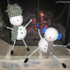 Whimsical Paper Mache Snowman Craft