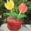 How to Make Flower Pot Cupcakes using Fruit Roll Ups