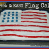 Quick & EASY American Flag Cake
