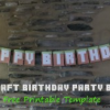 FREE Printable Minecraft Party Banner