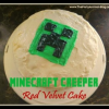 Minecraft Creeper Red Velvet Cake