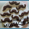 Chocolate Sugar Cookie Mustaches