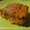 Delicious 2 Ingredient Pumpkin Cake with Cider Glaze