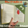 How to Make a Page Eating Monster Bookmark