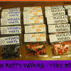 Fun Halloween Party Favors with FREE Printable Labels