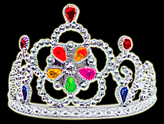 Light Up Tiara with Blinking Jewels