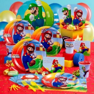 Super Mario Bros Party Supplies and Cardboard Stand Ups