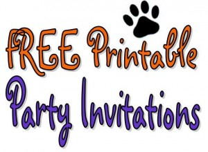 FREE Printable Birthday Party Invitations | ThePartyAnimal-Blog
