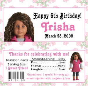 american girl birthday party  thepartyanimalblog, Birthday invitations