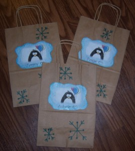 Penguin Party Favor bags