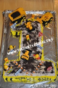 Contruction Birthday Party Cake