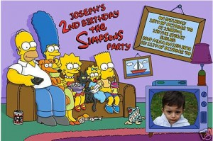 Simpsons party invitation