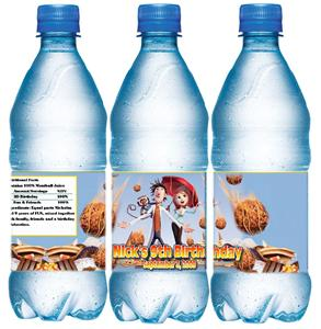 cloudy with a chance of meatballs water bottle wrappers