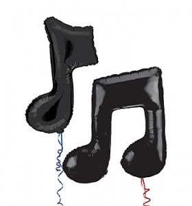 music note balloons