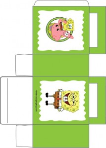 Free Printable Spongebob Favor box