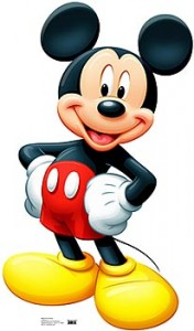 mickey mouse standee