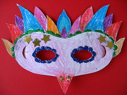 dtlk website (see resources) has a printable template for a mardi gras ...