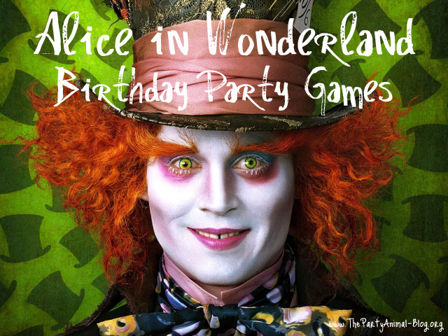 My niece actually had an Alice in Wonderland Movie Birthday Party and we all ...