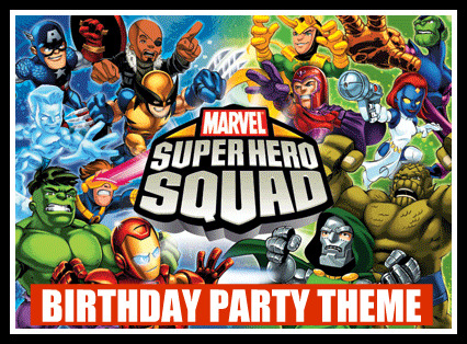 Supre Hero Squad Birthday Party Captain America Kids Birthday Party Ideas With the 2011 Captain America .