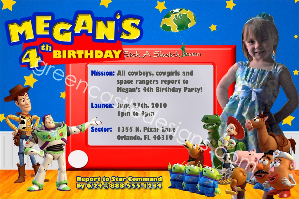Unique Toy Story 3 Party Invitations – Toy Story Party Invites