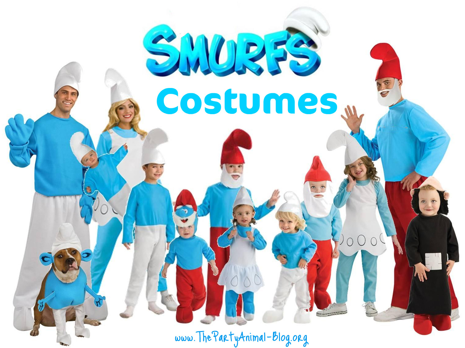 Have Fun in Blue with these Smurf Costumes