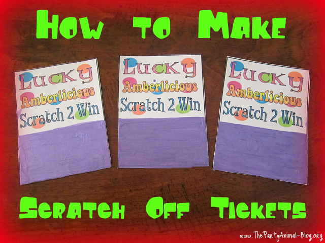 How to Make Scratch Off Lottery Tickets for your Party ...