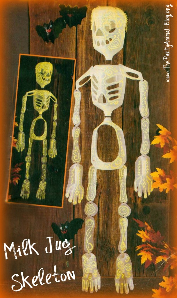 hanging skeleton decoration from milk cartons