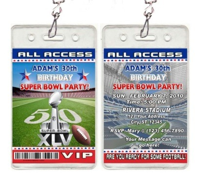 Superbowl XLV Party Invitations and Supplies ThePartyAnimalBlog