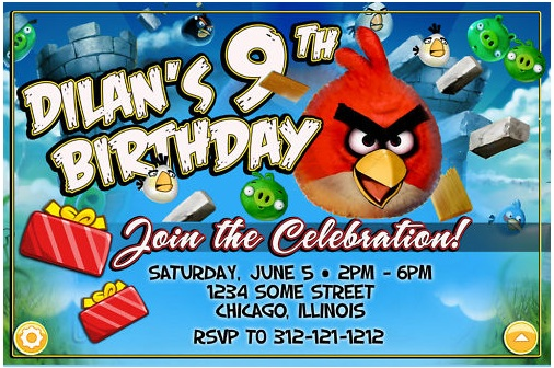 Angry Birds Birthday Party Theme – Angry Birds Party Invitations