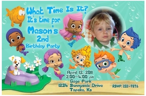 Bubble Guppies Birthday Party Theme – Bubble Guppies Party Invites
