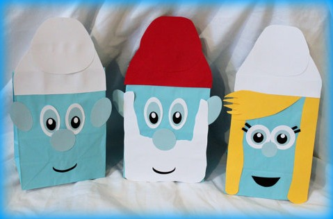 Craft Ideas Supplies on These Handmade Smurf Party Favor Bags Are Beyond Adorable And A Fun