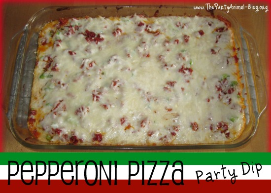 How to make Pepperoni Pizza Party Dip | ThePartyAnimal-Blog