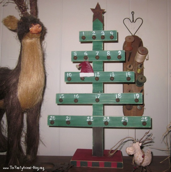 How To Make A Christmas Countdown Tree