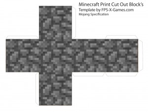 minecraft_print_cut_out_block_cobblestone