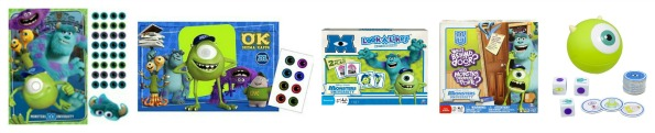 Monsters University Party Games