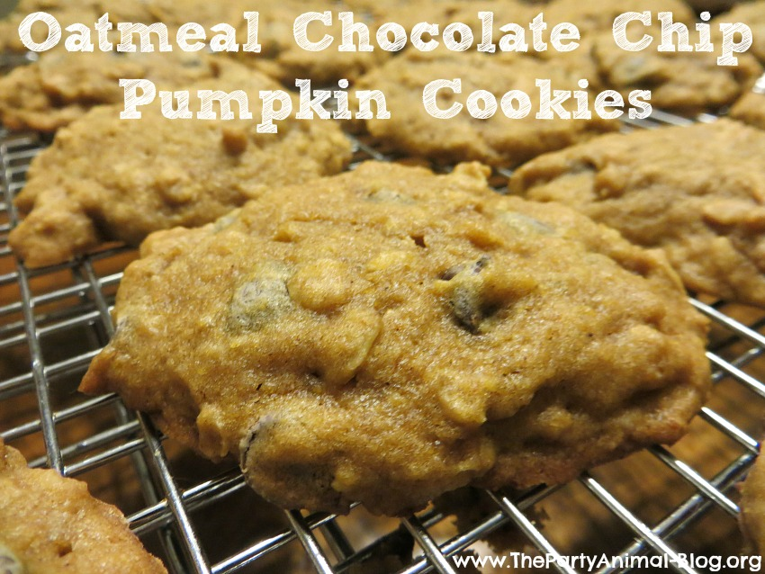 What you need to make these Oatmeal Chocolate Chip Pumpkin Cookies:
